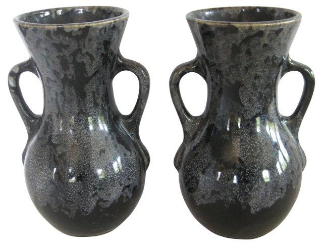 American Pottery Vases, C. 1940, Pair