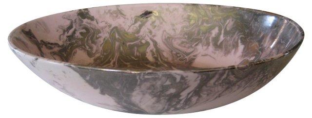 Sascha Brastoff Platinum Glaze   Bowl