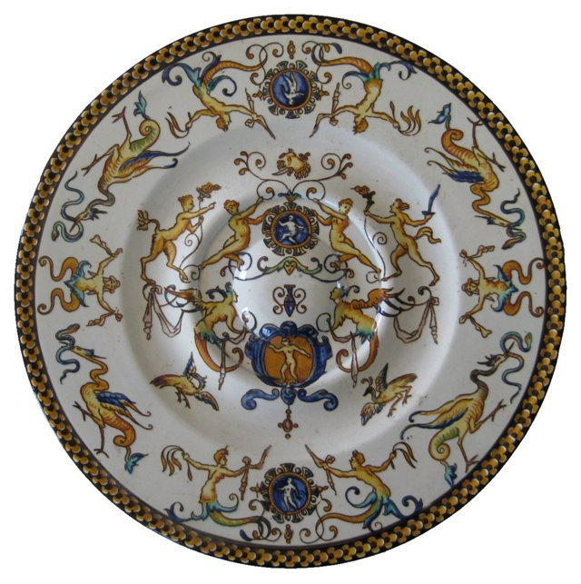 19th-C. French Armorial Plate