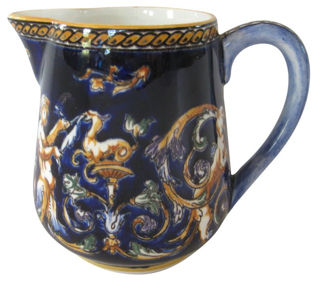 French Faience Milk Pitcher
