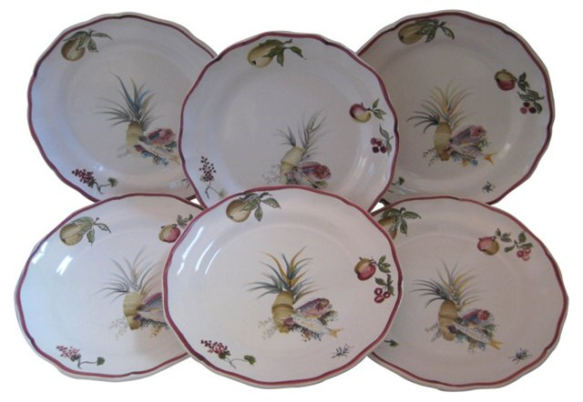 French  Faience Plates, S/6