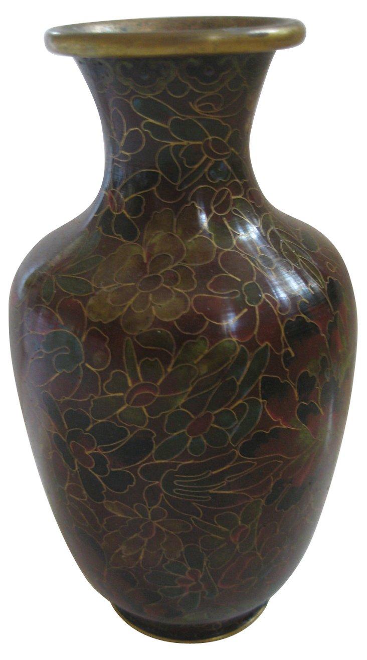 Chrysanthemum Cloisonné Vase