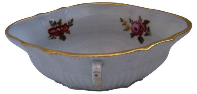 Double-Handled Ginori Porcelain Bowl