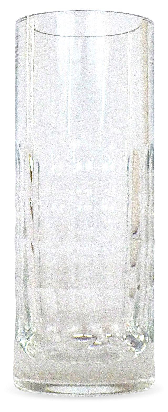 French Baccarat  Crystal Thumbprint Vase