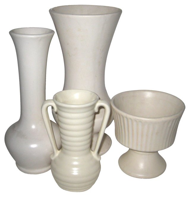 American Pottery Vases, S/4