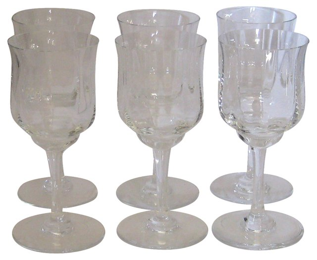 Baccarat  Capri Wine Glasses, S/6