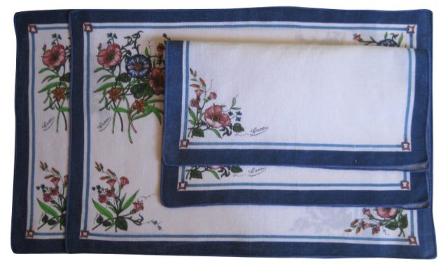 Gucci Place Mats & Napkins, Svc. for 2