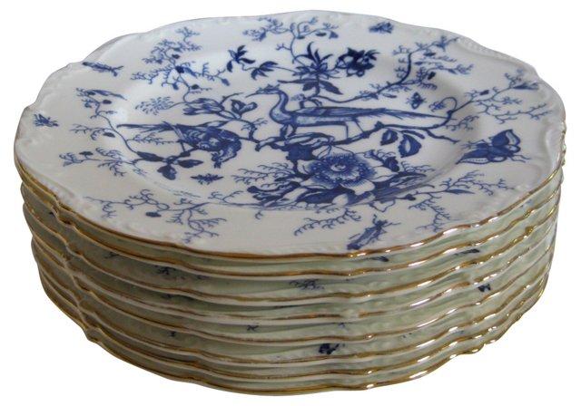 Coalport English Porcelain Plates,  S/8