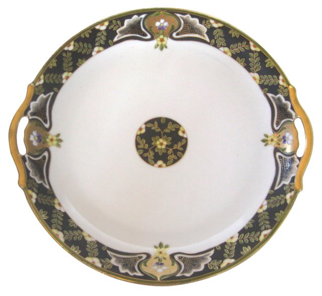 Antique Hand-Painted Porcelain Platter