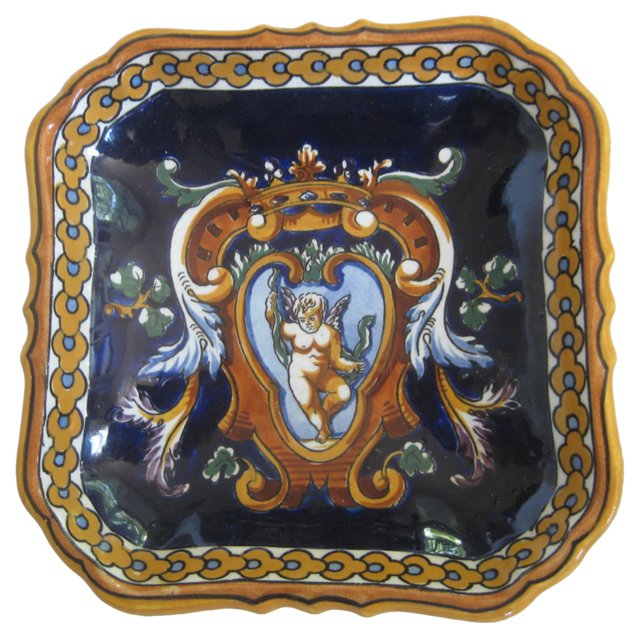French Faience Letter   Tray