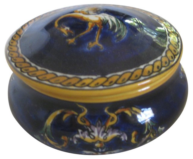 French Faience     Lidded Box