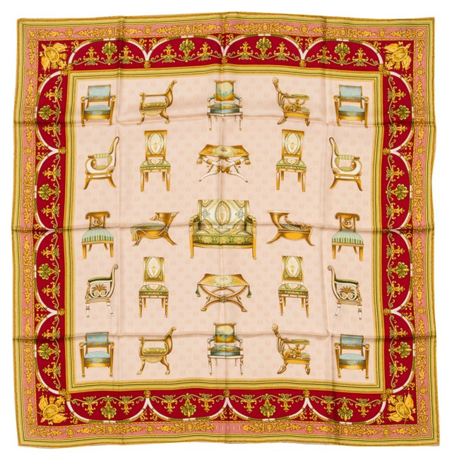 Gucci Chairs Scarf