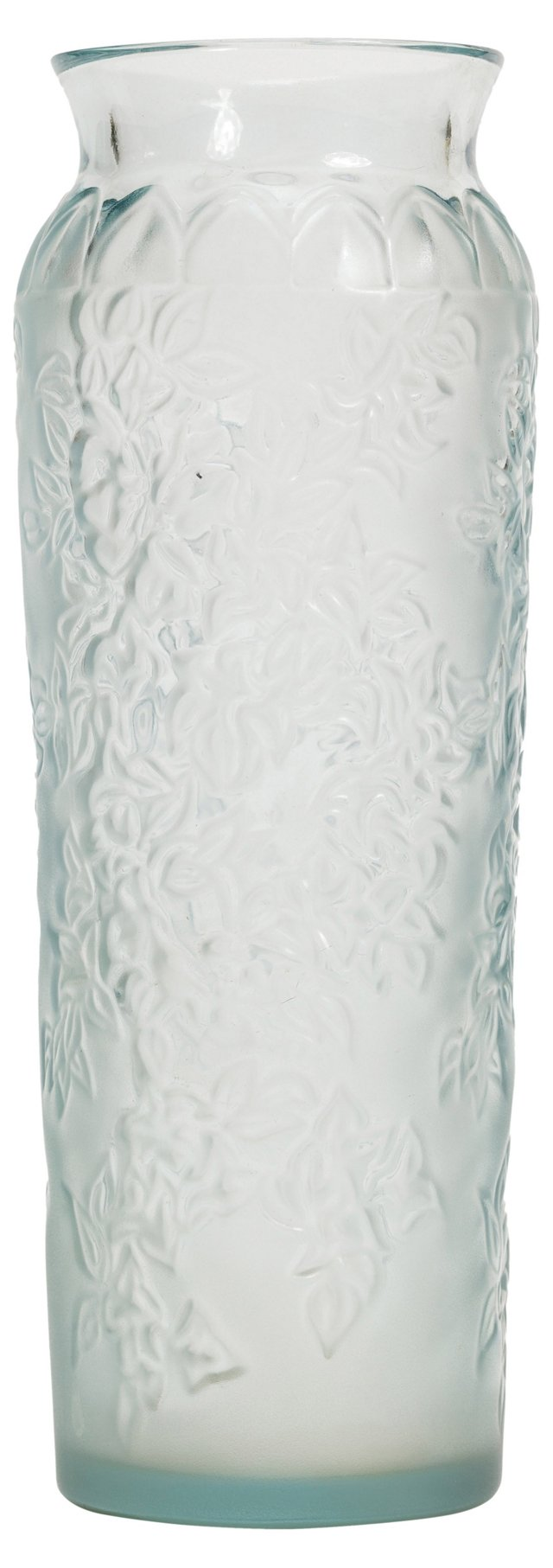 Lalique Blue Bougainvillea Vase