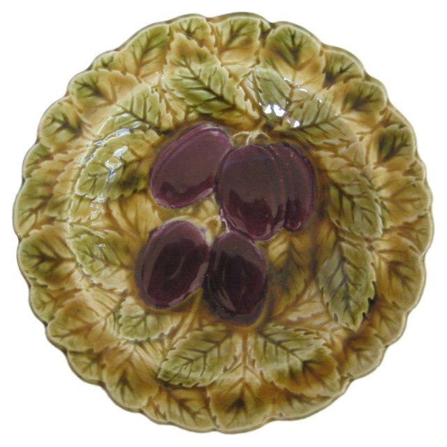Majolica Plums Bowl