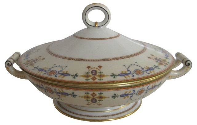 Early 1900s Ginori  Porcelain Tureen