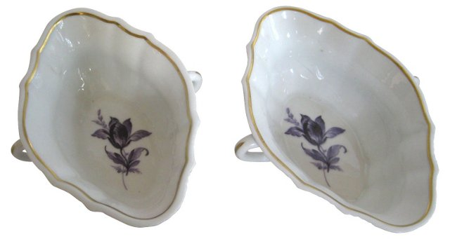 Ginori Two-Handled  Bowls, Pair