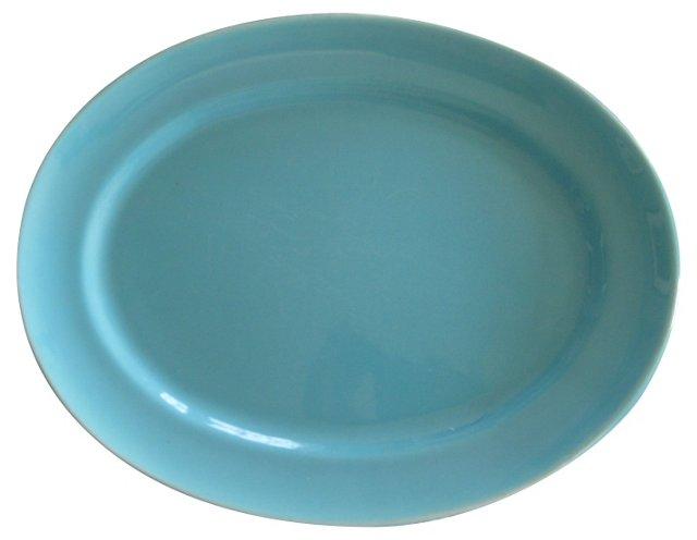 Gladding McBean Turquoise Oval Platter