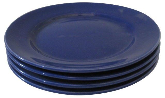 Gladding, McBean  Blue Plates, S/4