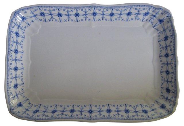 Antique Staffordshire China Platter