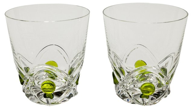 Lalique  Art  Deco  Tumblers,  Pair