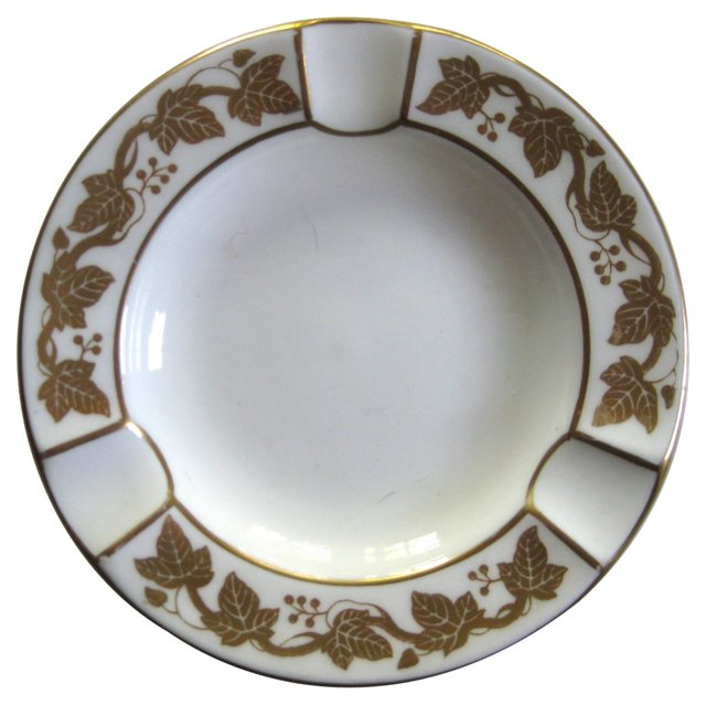 Wedgwood Gilt Porcelain   Ashtray