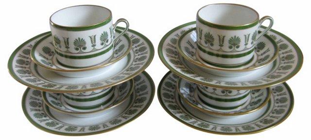 Italian Porcelain Dessert Service for  4