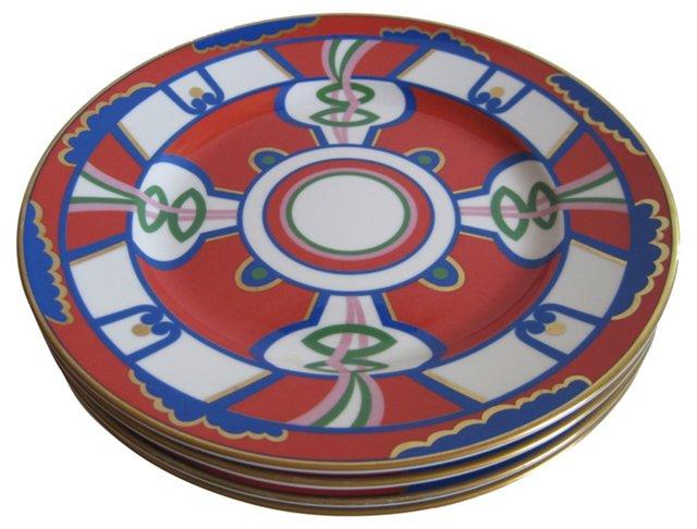 Oscar De La Renta Porcelain Plates, S/4