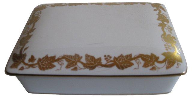 Wedgwood Gilded Porcelain Box