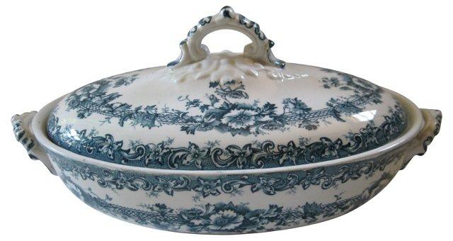 19th-C. Blue & White English  Tureen
