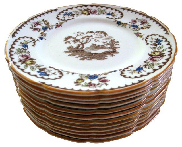 1930s Royal Doulton Canapé Plates, S/11