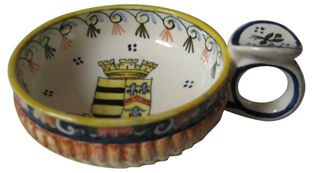 French Faience Wine Tasting Cup