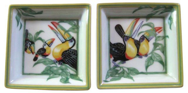 Hermès Toucan Trays, Pair