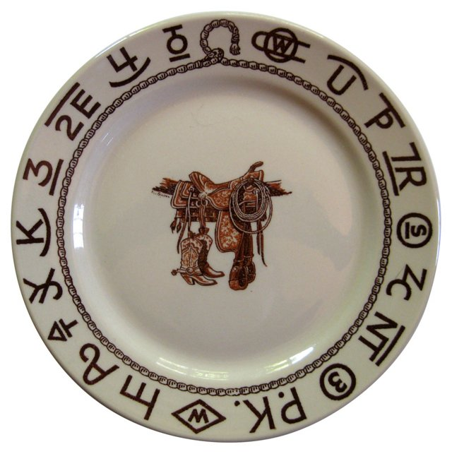 Boots  &  Saddle  Wall Plate