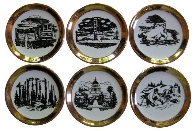 Mid-Century Fornasetti-Style   Coasters