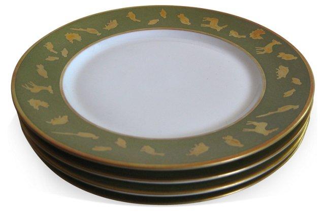 Puiforcat Limoges Animal Plates S/4