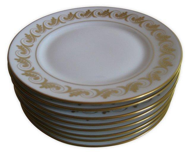 Ginori Gilt Porcelain Plates   S/8