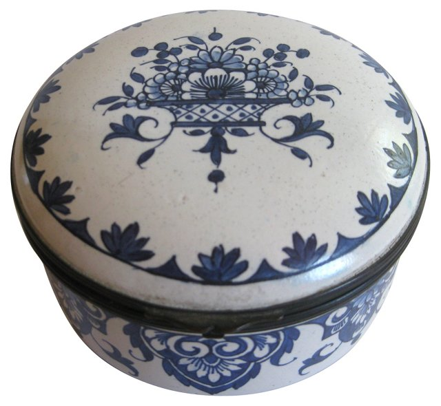 Early 20th Century French Faience Box
