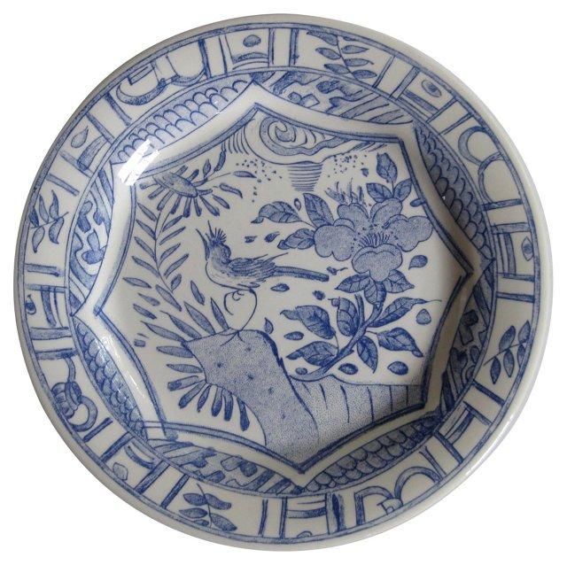 Gien French Blue Dinner Plates, S/6