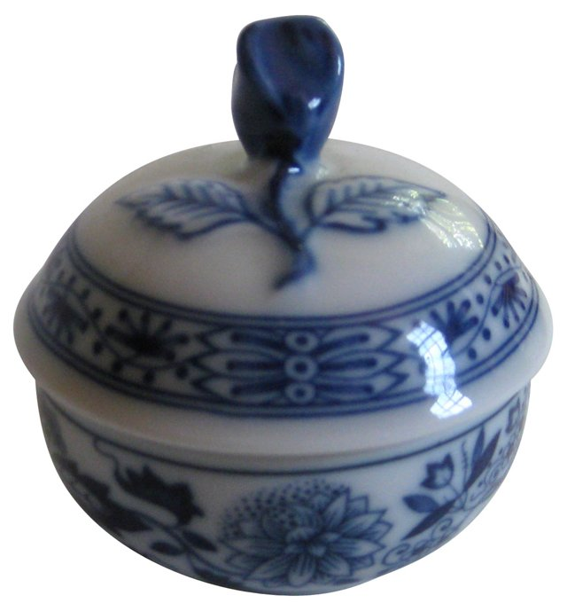 Blue & White Porcelain Ring Box