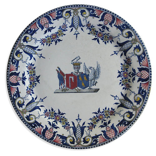 French Faience Cake Stand