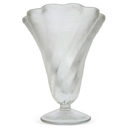 Lalique Art Deco Swirl Vase