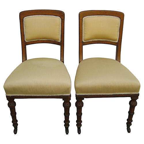 Antique English Chairs, Pair
