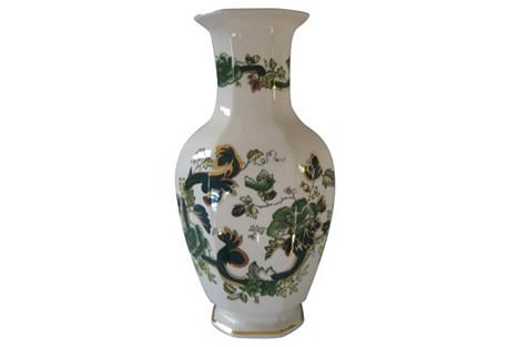 Mason's English Tall Chartreuse Vase
