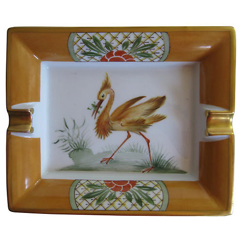Hermès Gilt Porcelain Cigar Ashtray