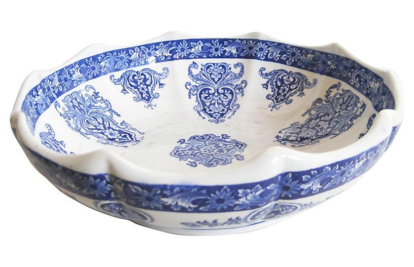 Gien French Faience Serving Bowl