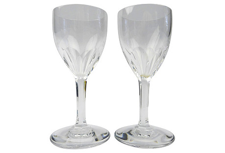 Baccarat French Crystal Glasses, Pair