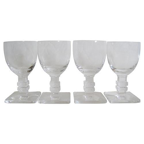 Lalique Argos Glasses, S/4