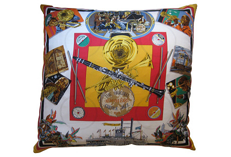 Hermès New Orleans Scarf Pillow