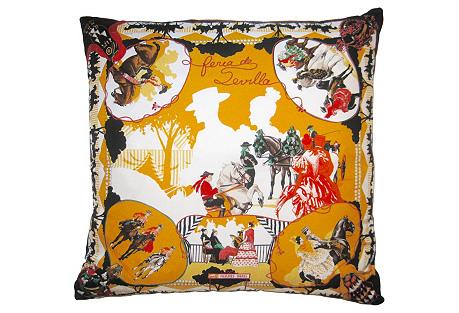 Hermès Feria de Sevilla Scarf Pillow