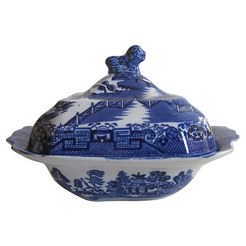 Antique English Chinoiserie Tureen